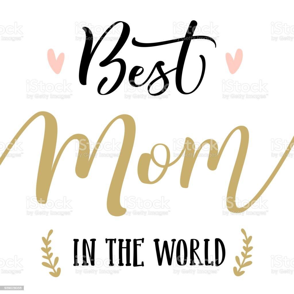 Die Beste Mama Der Welt Glückliche Mutter Tagschriftzug Moderne