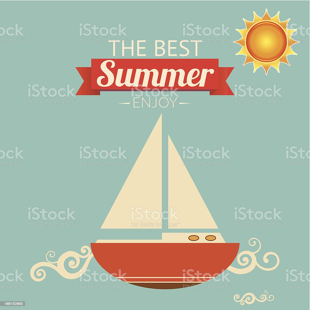 The Best Summer royalty-free stock vector art