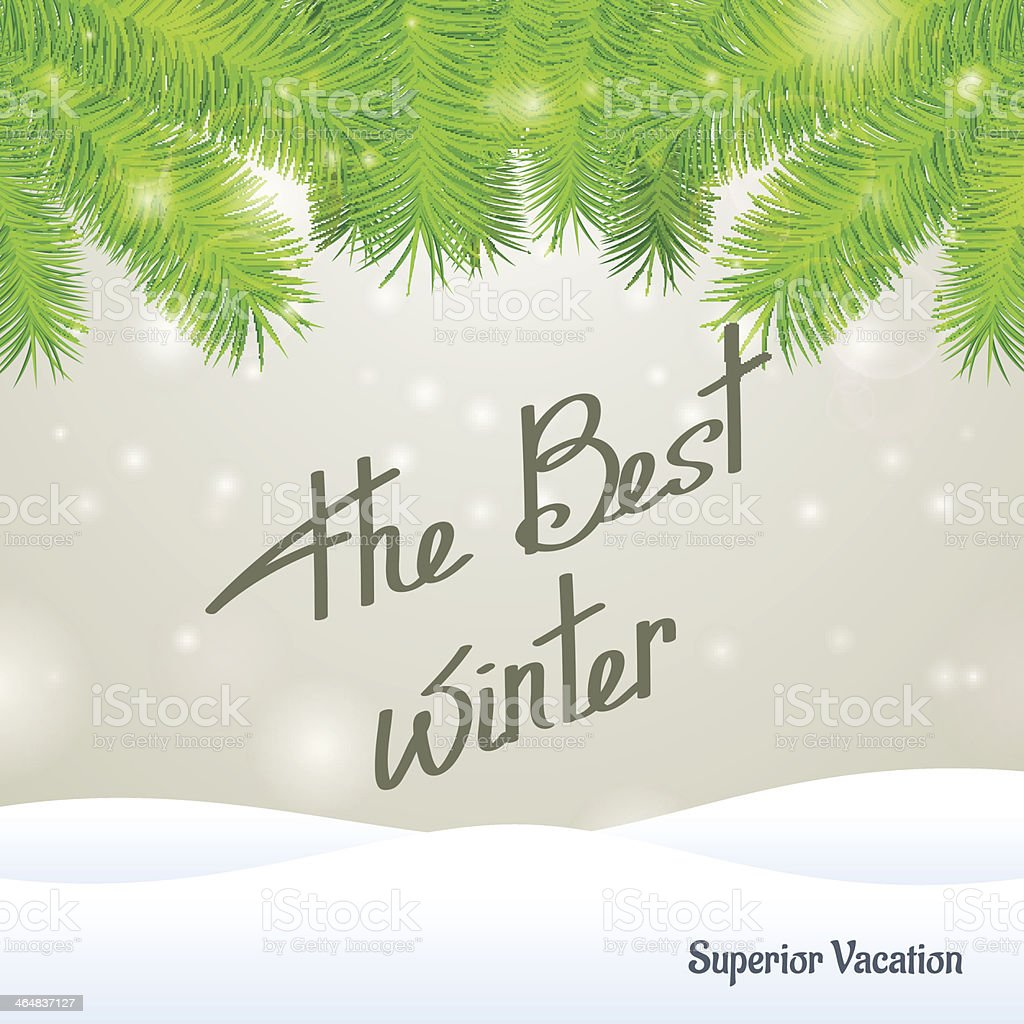 The best winter superior vacation royalty-free stock vector art