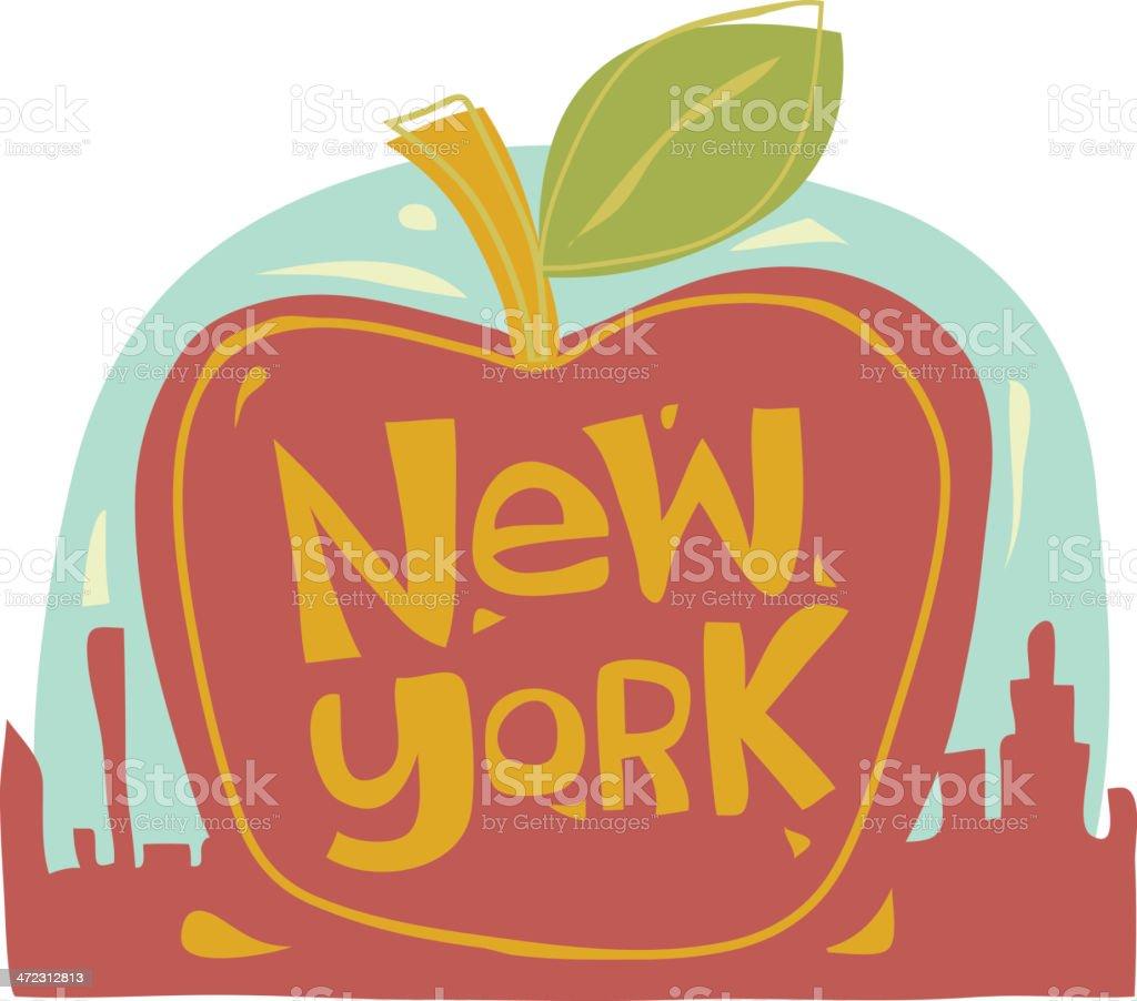 The Big Apple New York City royalty-free stock vector art