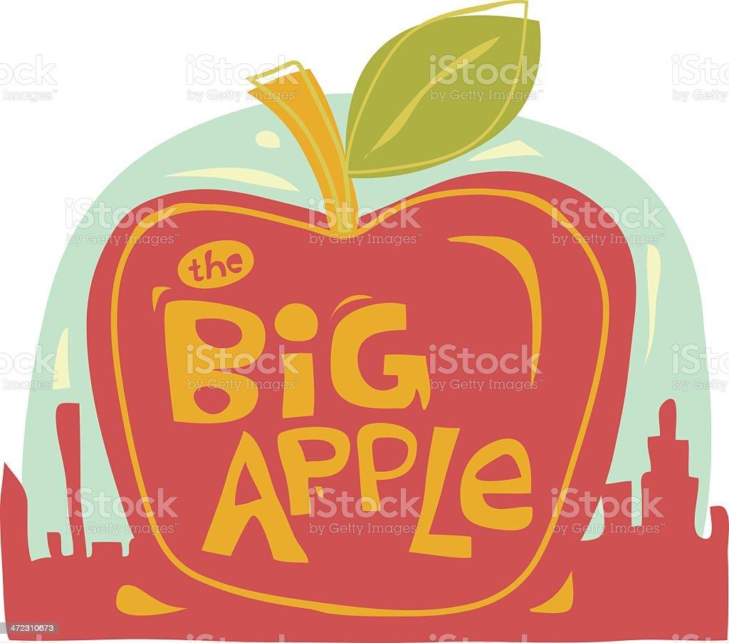 The Big Apple royalty-free stock vector art