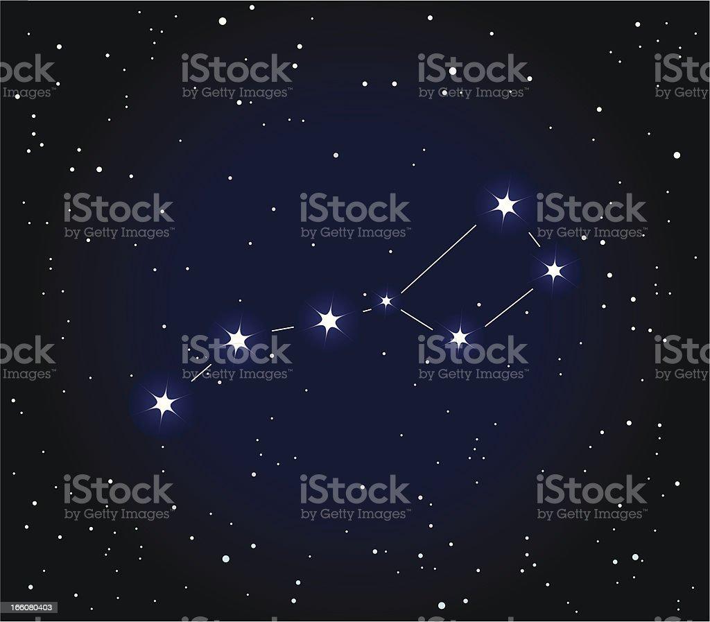 The Big Dipper Constellation vector art illustration