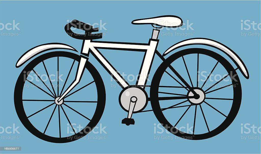 The Bike vector art illustration