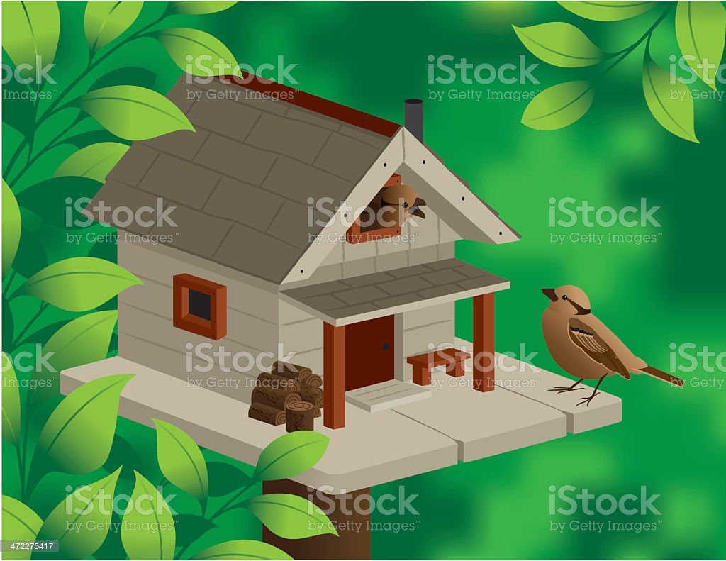The Birdhouse royalty-free stock vector art