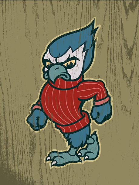 J.J. the Blue Jay vector art illustration