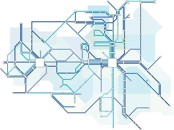 illustrations, cliparts, dessins animés et icônes de la ligne bleue - métro
