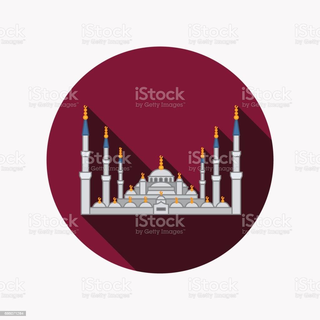 The Blue Mosque, Istanbul, Turkey vector art illustration
