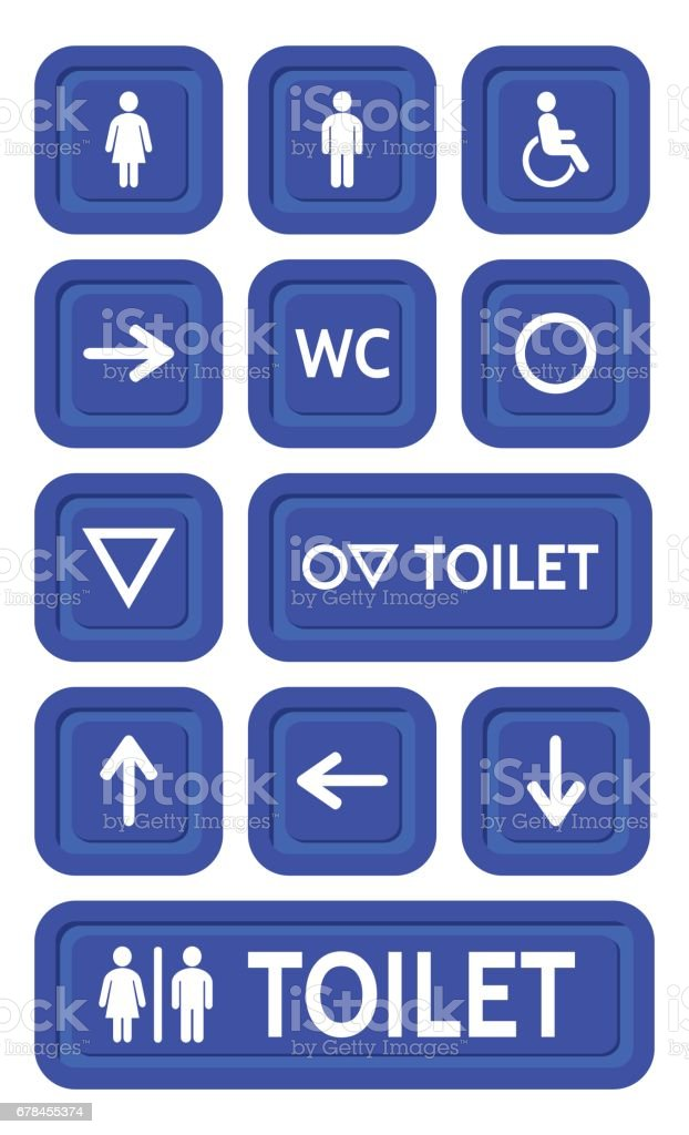 The blue signs set to the toilet. royalty-free the blue signs set to the toilet stock vector art & more images of adult