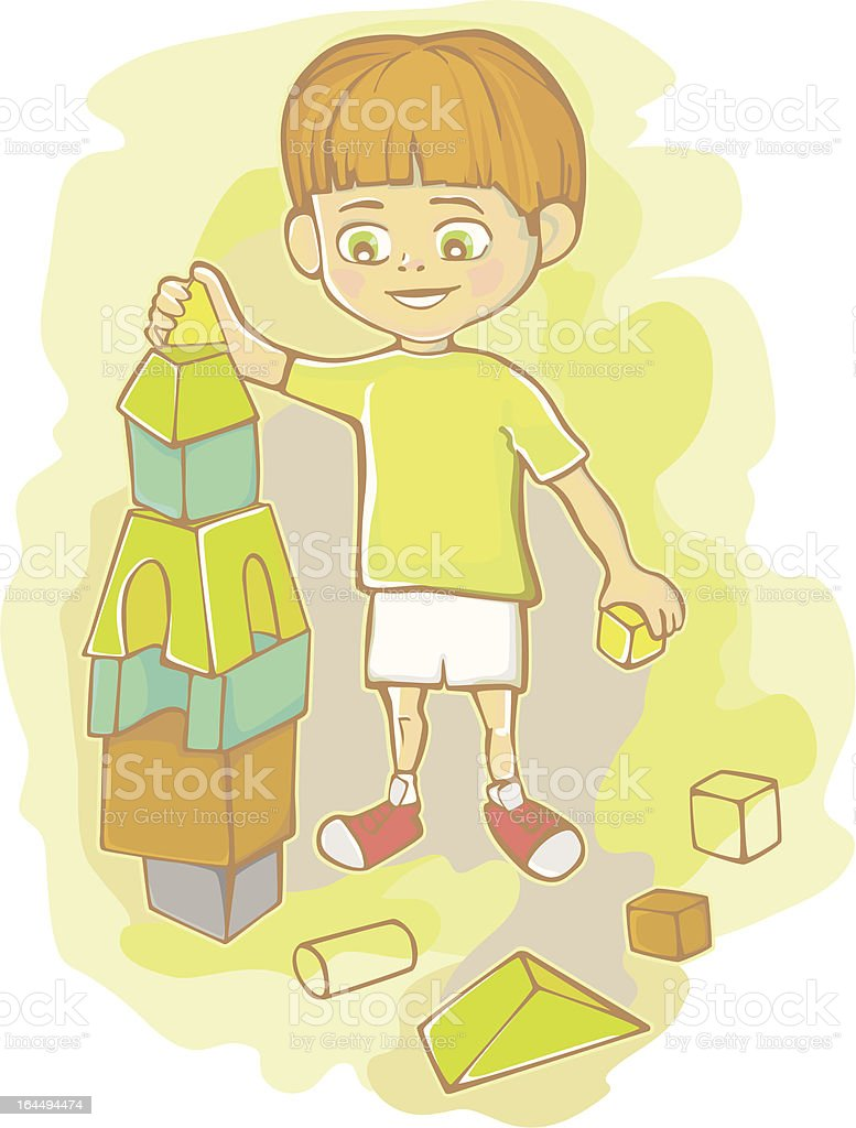 The boy plays royalty-free the boy plays stock vector art & more images of boys