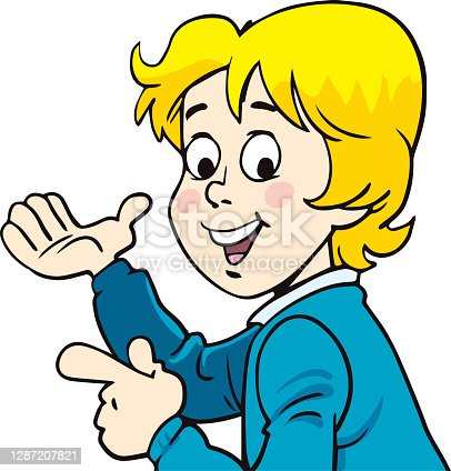 istock The boy points 1287207821
