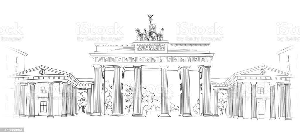 The Brandenburg gate in Berlin. – Vektorgrafik