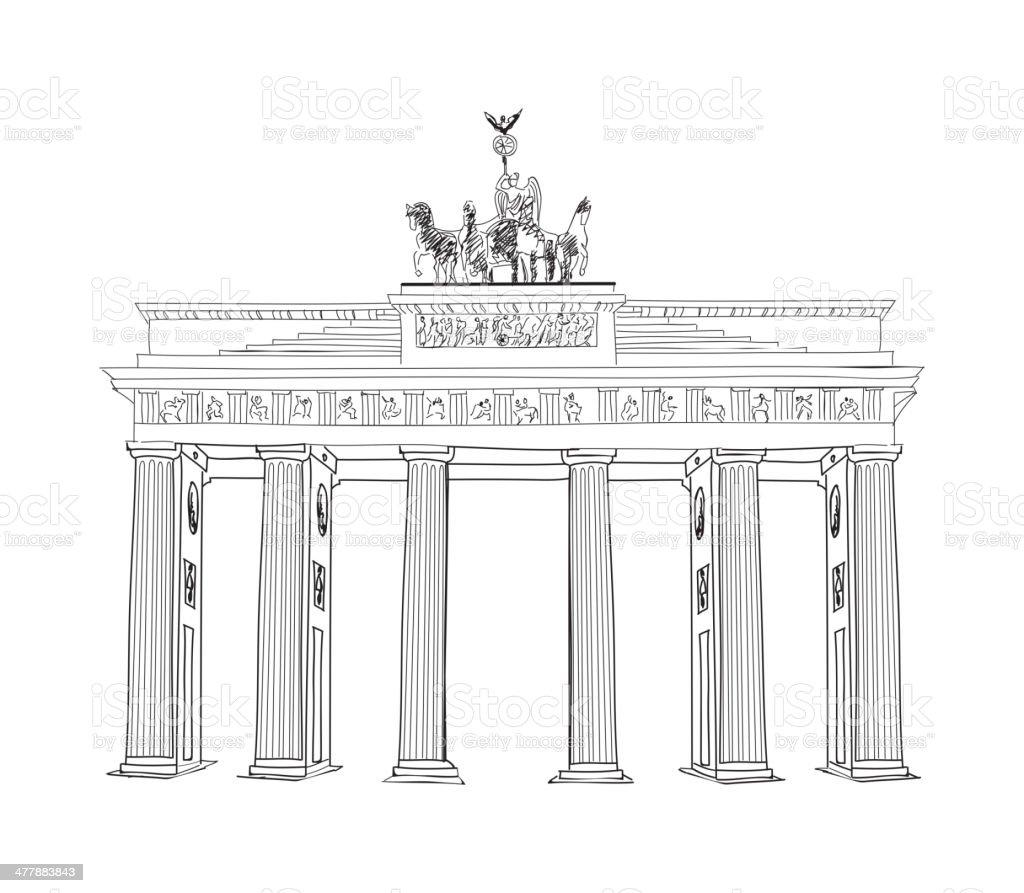 Das Brandenburger Tor. – Vektorgrafik