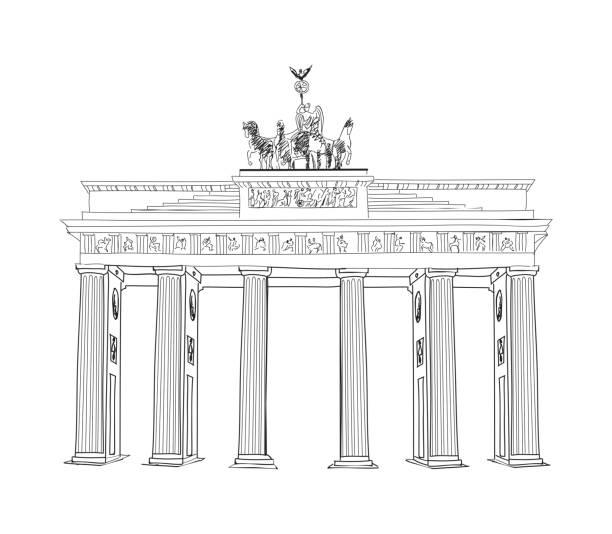 ilustrações de stock, clip art, desenhos animados e ícones de o portão de brademburgo. - berlin wall