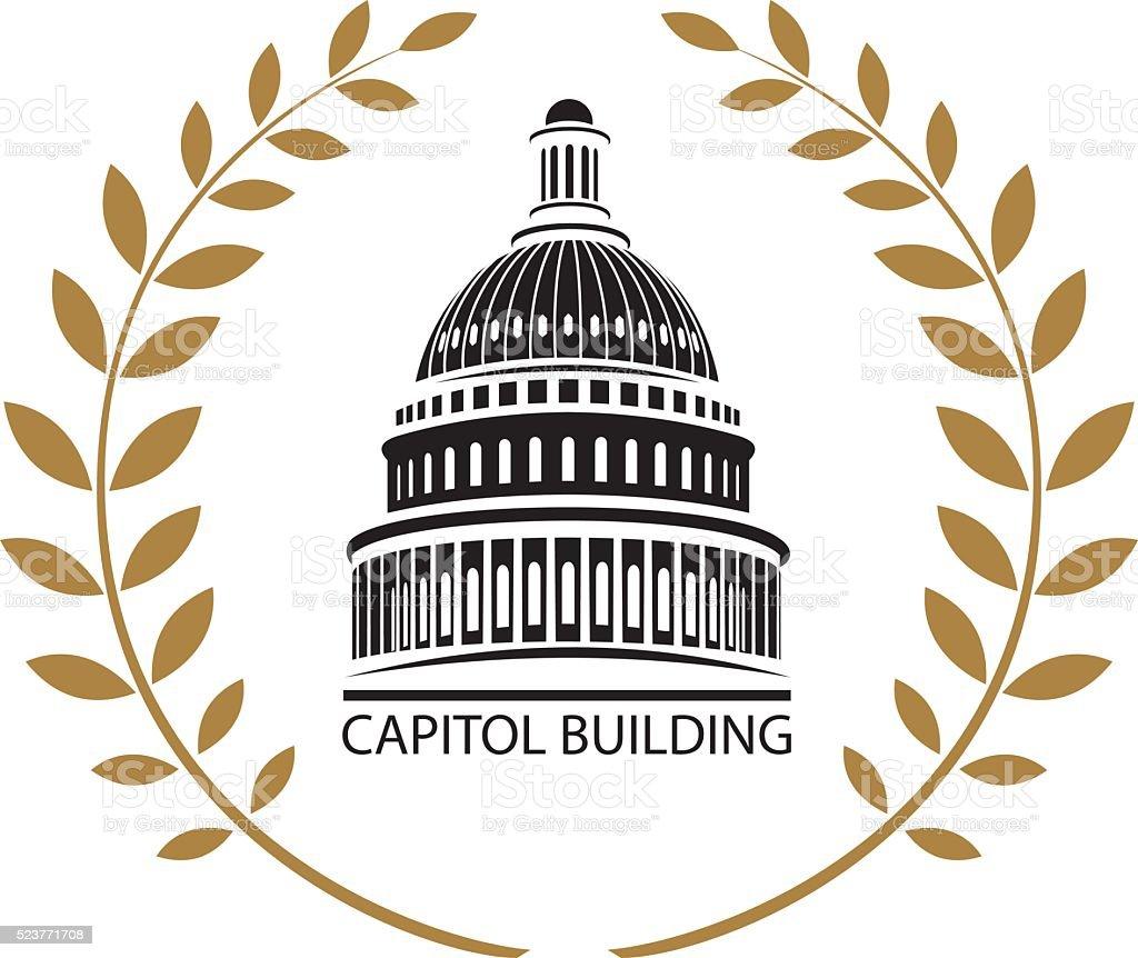Das Gebäude des Capitol – Vektorgrafik