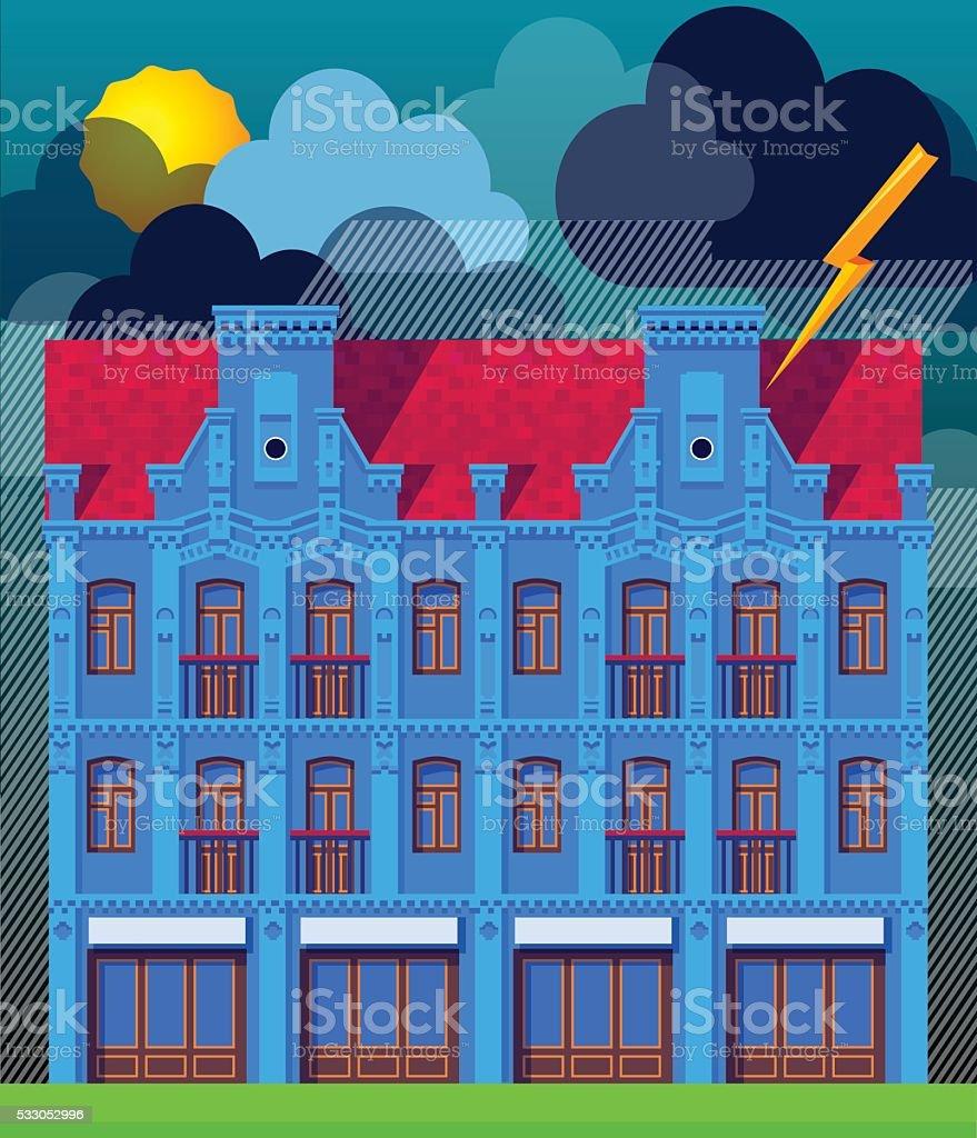 The building vector art illustration