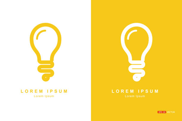 The bulbs The bulbs, Concept Design Creative concepts, white background or yellow background, Vector EPS 10 creative occupation stock illustrations