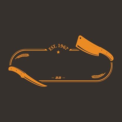 The Butchery - vintage logo template.