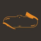 Logo, Barbecue, Barbecue Grill, Butcher, Meat Cleaver,