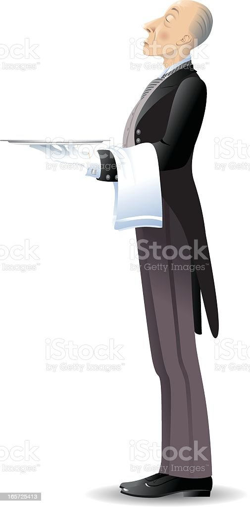 The Butler vector art illustration