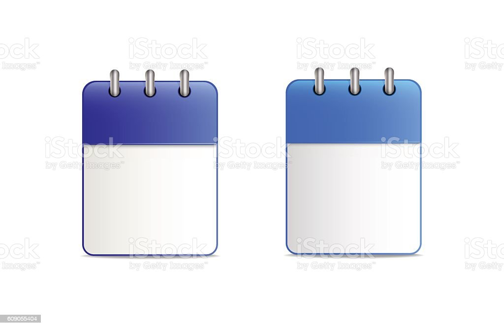 The calendar is blue in two variants – Vektorgrafik