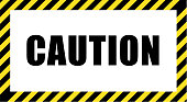 istock The call for caution in striking black and yellow striped frame 1216368104