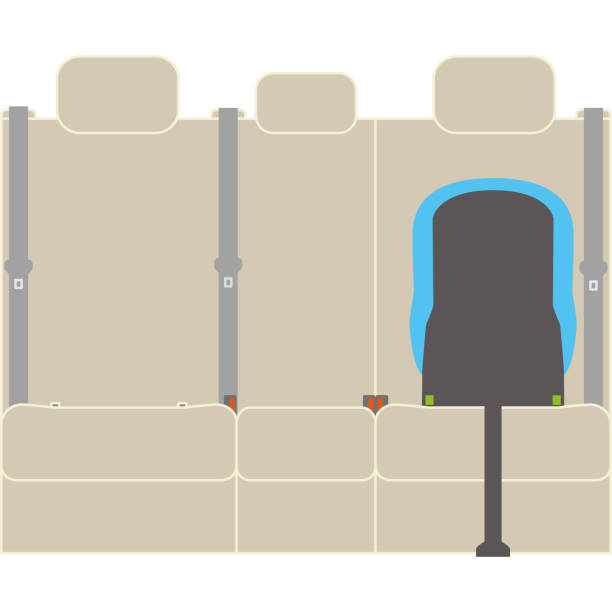 The car seat which protects a child isofix vector art illustration