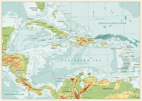The Caribbean Physical Map Retro Colors Stock Illustration ... on map of s america and caribbean, time zone map of caribbean, satellite map of caribbean, large map of the caribbean, political map of caribbean, world map caribbean, map of middle america and caribbean, geography of caribbean, color map of caribbean, elevation of caribbean, full map of caribbean, topographic map of caribbean, educational map of caribbean, outline map of caribbean, relief map of caribbean, blank map of caribbean, culture of caribbean, population density map of caribbean, map of of caribbean, physical features of caribbean islands,