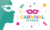 The Carnival of Venice. Annual festival celebrated in Venice, Italy