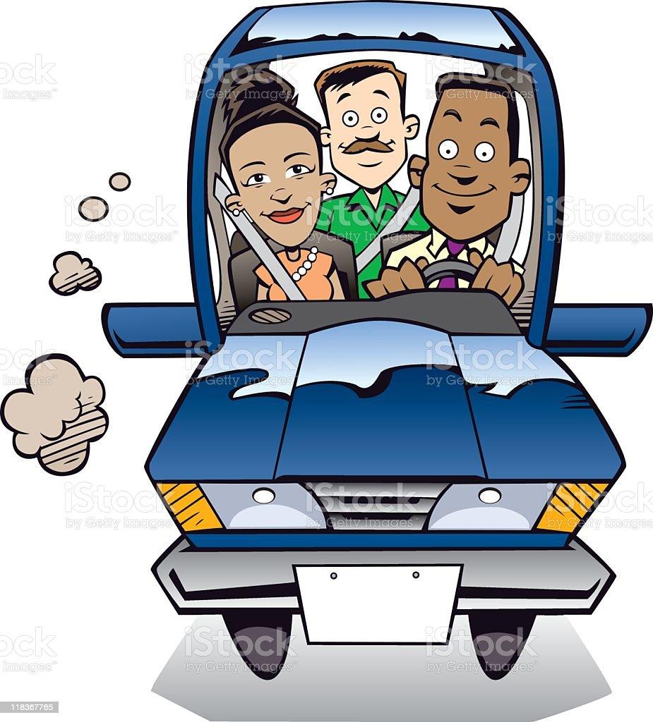 El Carpool - ilustración de arte vectorial