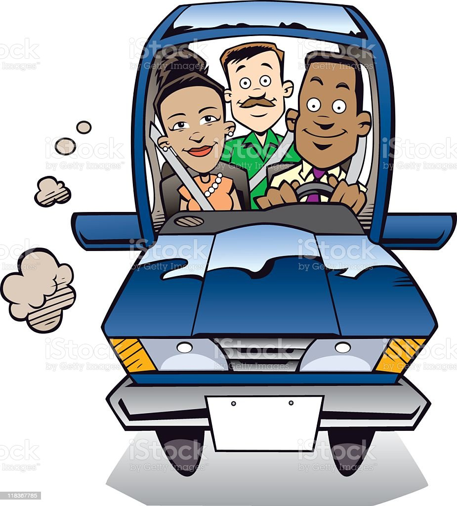 Le Carpool - Illustration vectorielle