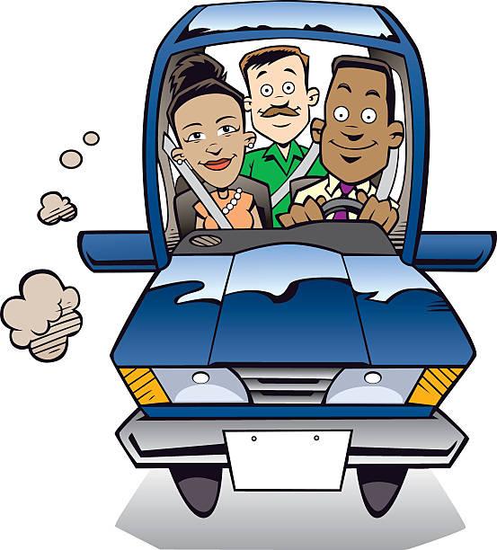 The Carpool vector art illustration