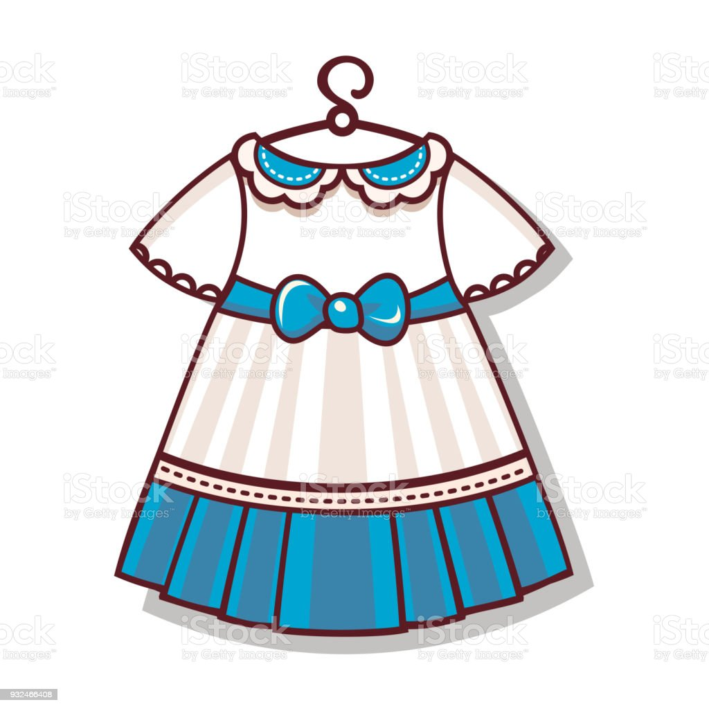 The cartoon style. Dress color for the child vector art illustration