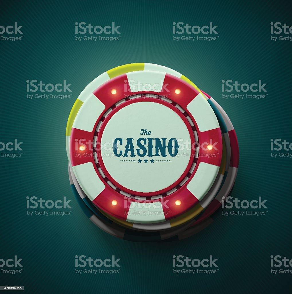 The Casino vector art illustration