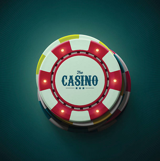 The Casino Casino chips, top view. Illustration contains transparency and blending effects, eps 10 gambling chip stock illustrations