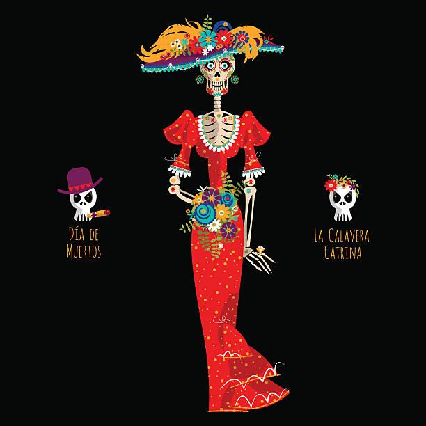 Death La Calavera Catrina Day Of The Dead Clip Art - Head - Skull  Transparent PNG