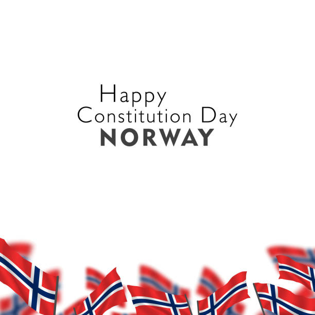 The celebration of the Norwegian Constitution Day The celebration of the Norwegian Constitution Day norway stock illustrations