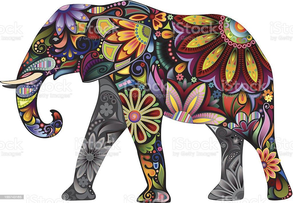 The cheerful elephant royalty-free stock vector art