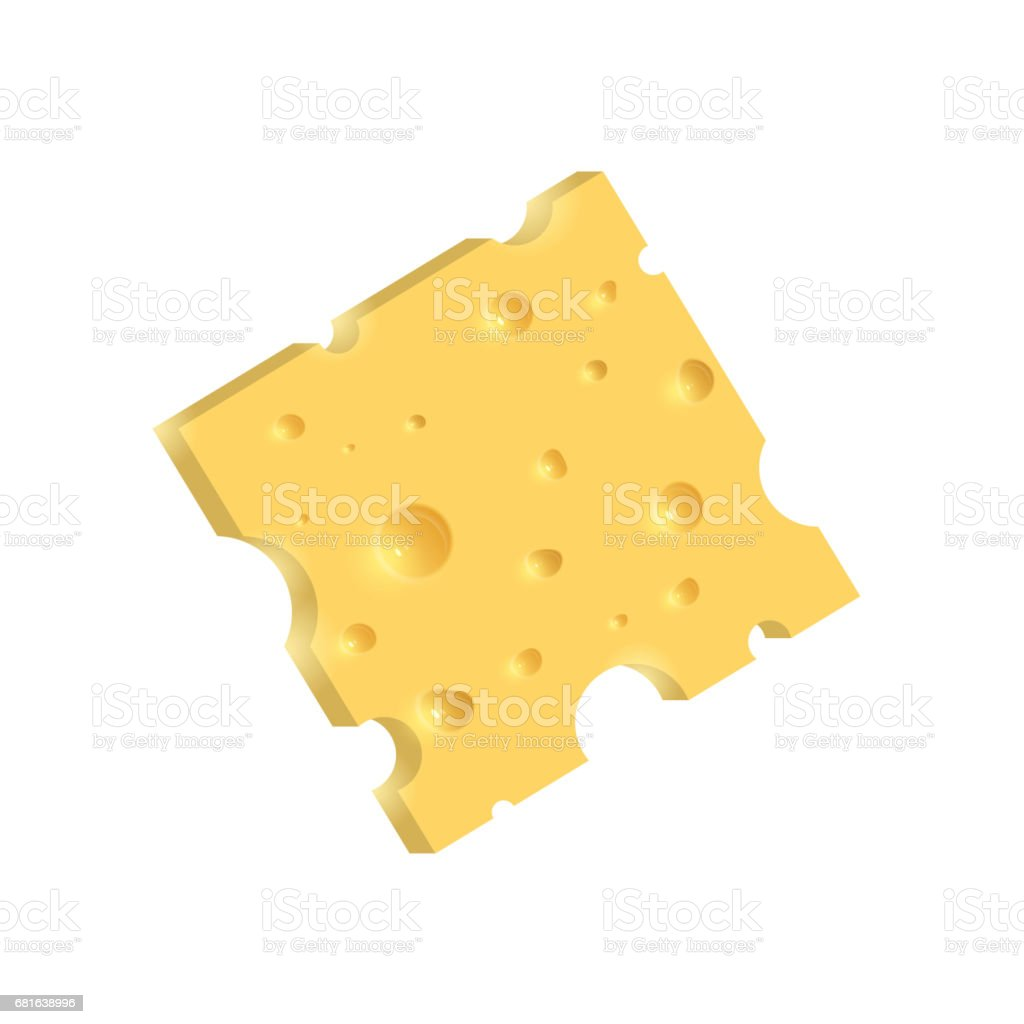 The cheese. Illustration isolated on white background vector art illustration