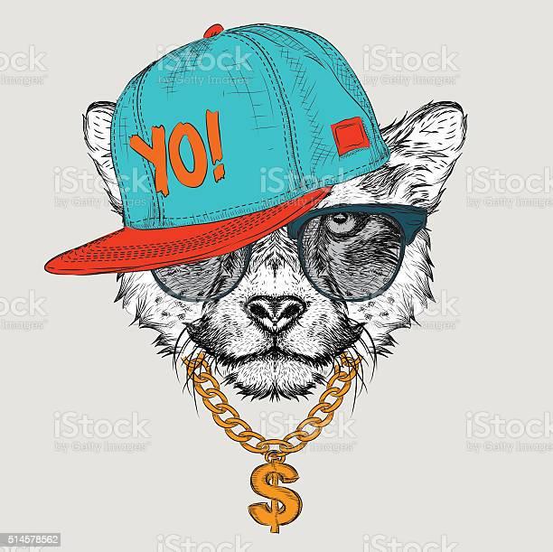 The cheetah portrait in hiphop hat vector illustration vector id514578562?b=1&k=6&m=514578562&s=612x612&h=etkcxynh8kktihbhrn7ico9w9r6lqqoccy6vx6tiu6o=