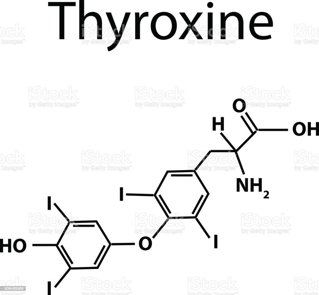 The Chemical Molecular Formula Of The Hormone Thyroxine Thyroid