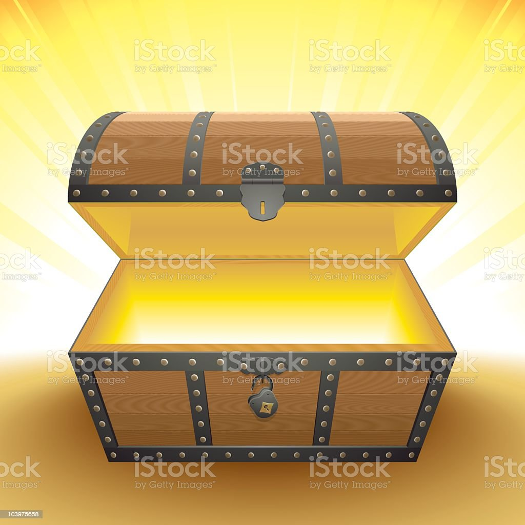 the chest of light royalty-free stock vector art