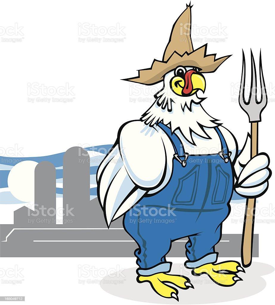 The Chicken Farmer vector art illustration