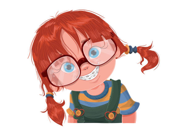 the child smile - toothy smile stock illustrations