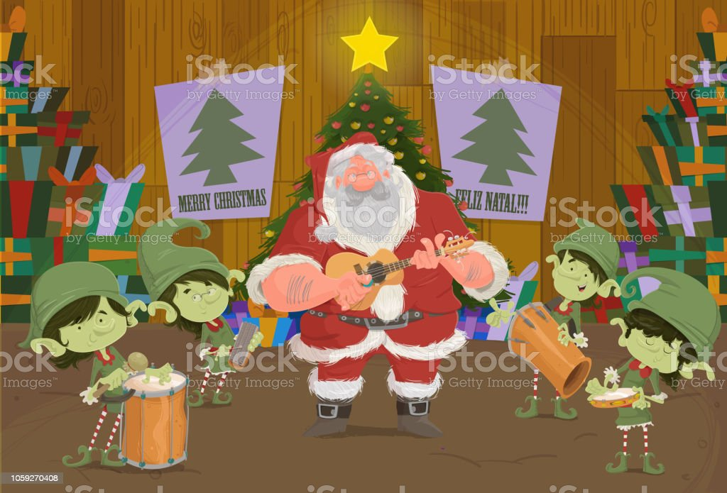The Christmas In Samba Stock Vector Art More Images Of Adults Only
