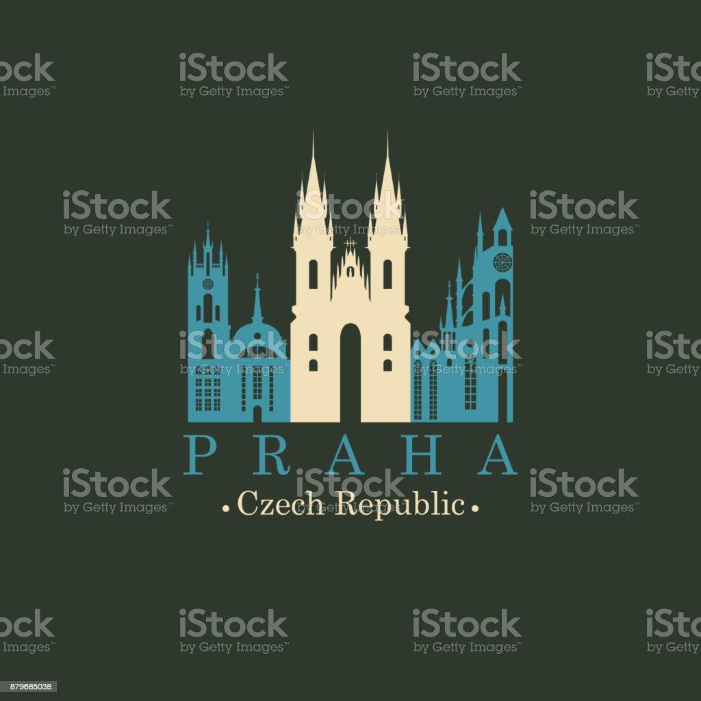 L'église de mère de Dieu devant tyn, Prague - Illustration vectorielle