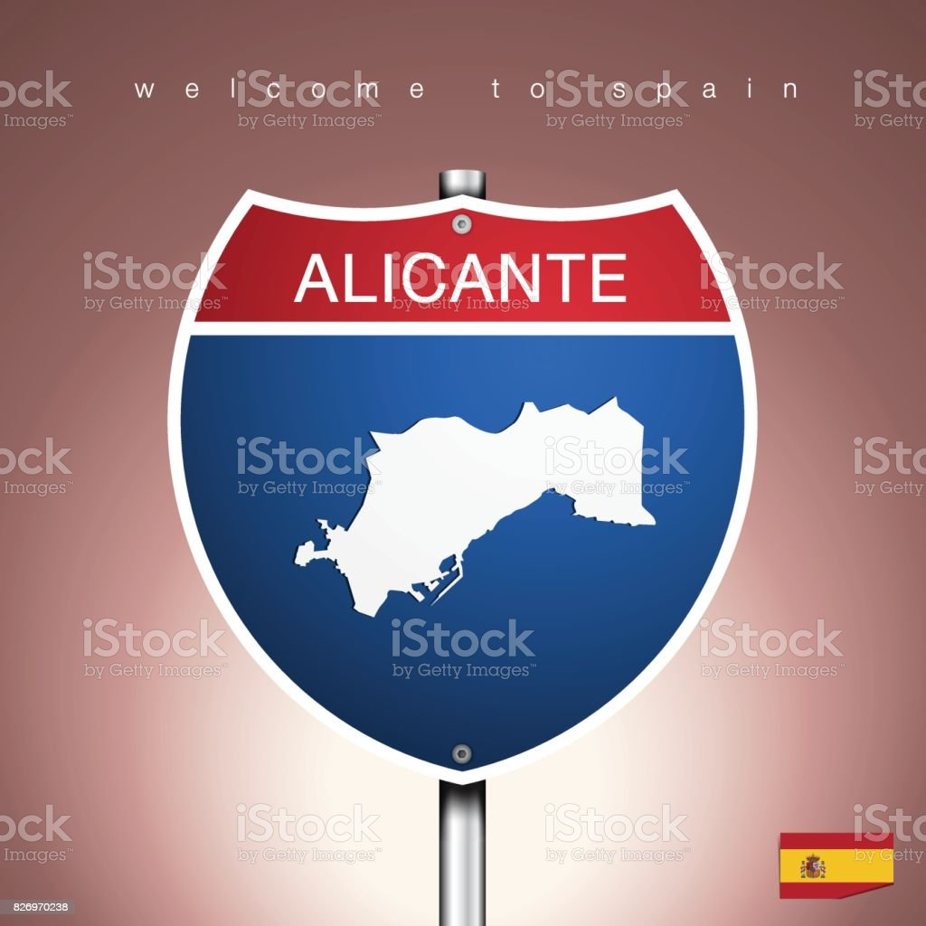 Map Of Spain To Label.The City Label And Map Of Spain In American Signs Style Stock Vector