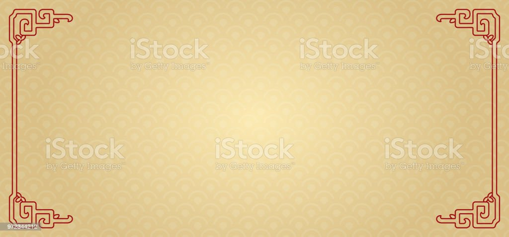 The Classic Chinese Background vector art illustration