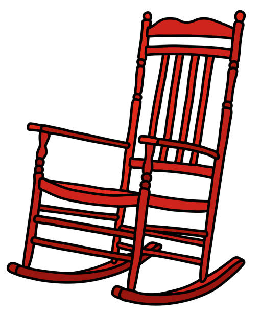 Peachy Cartoon Of A Wooden Rocking Chairs Illustrations Royalty Machost Co Dining Chair Design Ideas Machostcouk