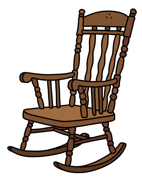 Prime Cartoon Of A Wooden Rocking Chairs Illustrations Royalty Machost Co Dining Chair Design Ideas Machostcouk