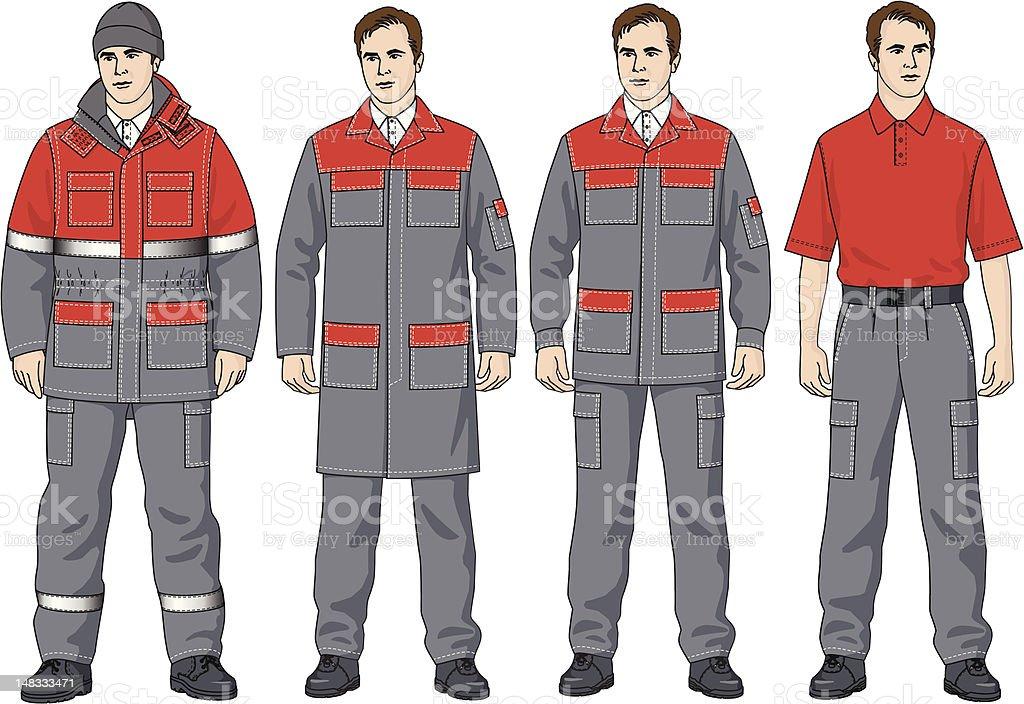 The clothes - Royaltyfri Arbetsoverall vektorgrafik
